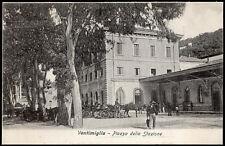 cartolina VENTIMIGLIA piazza della stazione