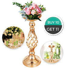 """Flower Rack for Wedding 10pcs Metal Candle Stand 16"""" Height Gold Centerpieces"""
