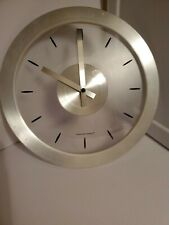 """Sterling & Noble Silver and Translucent 12"""" Round Wall Clock"""