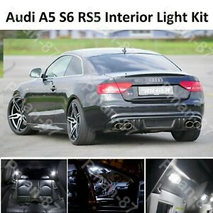 BRAND NEW for AUDI B8 A5 S5 RS5 Interior LED Bulbs Kit WHITE INTERIOR LIGHTS