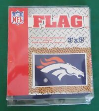 NFL DENVER BRONCOS WINCRAFT SPORTS 3' X 5' NYLON YARD FLAG NEW IN PACKAGE