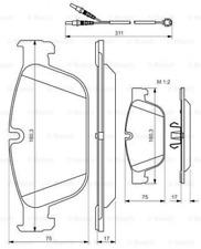 Bremsbelagsatz, Scheibenbremse für Bremsanlage Vorderachse BOSCH 0 986 494 526