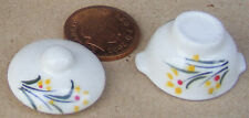 1:12 Scale Casserole Dish Dolls House Miniature Ceramic Kitchen Accessory Y21