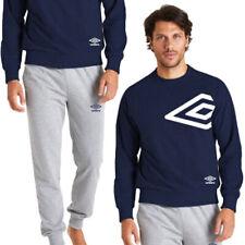 Tuta Uomo UMBRO Cotone Leggero Felpa +Pantalone Maglia Sport Fitness Palestra