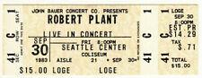 Robert Plant *Rare* 1983 Seattle Concert Ticket Loge Vtg led zeppelin rock