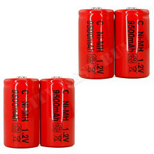 4 Size C 9500mAh Ni-MH 1.2V Volt Rechargeable Battery RED Cell HR14 Flashlight