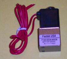"""Fastek USA Solenoid Valve, Model N2V-025-06-12VDC, Single Solenoid, 1/8"""" NPT"""