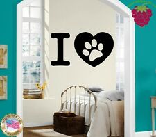 Wall Stickers Vinyl Decal Trail Dog Puppy Love Pets ig254