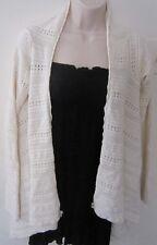 NICOLE MILLER COLLECTION Bamboo Knit Asymmetric Wrap Cardigan Top ~ Cream~Size S