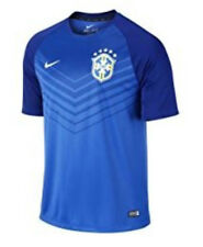 NWT Nike 2014 Brazil Pre-Match Men Medium Soccer Jersey Blue 100% Authentic $65+