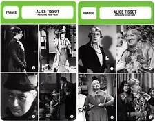 FICHE CINEMA x2 : ALICE TISSOT DE 1908 A 1962 - France (Biographie/Filmographie)