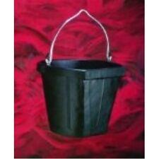 Fortex Flat Side Feed Bucket for Horses, 18-Quart