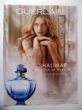 PUBLICITE-ADVERTISING :  GUERLAIN Shalimar Souffle de Parfum  2014 N.Vodianova