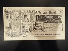 J. Melville Haynes Furniture and Upholstery Victorian Trade Card