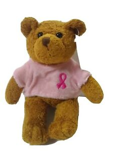 """Avon Breast Cancer Crusade Plush 6½"""" Teddy Bear Rosie"""