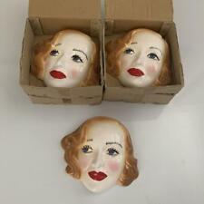 Bette Davis Vintage Decorative Ceramic Portrait Bust Mask circa 70's/80's
