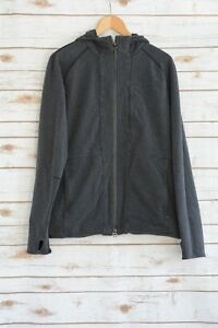 Lululemon - Gray heather long sleeve full zip HOODIE jacket, size L