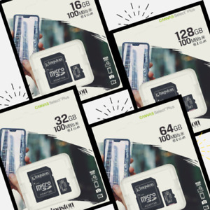 Kingston Micro SDCS2 Memory Card 16, 32,64 Or 128GB For Androids, Smart phones
