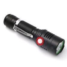 3000 Lumens CREE XM-L L2 LED USB Flashlight Torch Adjust Brightness Lamp Light