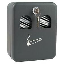 More details for wall mounted metal outdoor ashtray ash bin powder coated