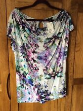 H&M tunic top size small/medium multi colour (bust up to 38 inches) BNWT