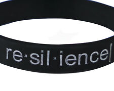 re·sil·ience Debossed Motivational Inspirational Silicone Wristband