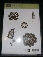 STAMPIN UP ARRAY OF SUNSHINE SET OF 5 FLOWERS --HOSTESS EXCLUSIVE RETIRED- NEW