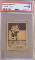 1951 1952 PARKHURST Hal Laycoe PSA 2.5 Good Plus GD + #25 HOCKEY Boston Bruins
