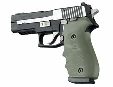 Hogue Grip For Sig Sauer P220 American - Rubber Finger Groove OD Green 20001