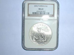 2004-P $1 Thomas Edison Commemorative Silver Dollar NGC MS 69