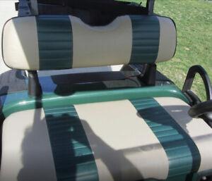 E-Z-Go TXT 2 Stripe Staple On Golf Cart Seat Cover Set