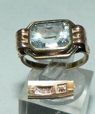 Ring aus 585er Gold mit hellem Aquamarin, Gr. 54/Ø 17,2 mm  (da4464)