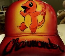 Pokemon Go Custom Airbrush Trucker Hat! Charmander snapback personalized Pokémon