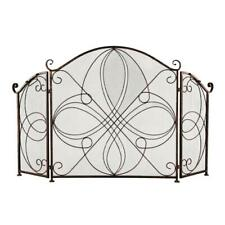Folding Iron Fireplace Screen Doors 3 Panel Spark Guard Cover Safe Proof Fence