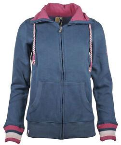 Roadsign Damen Sweatjacke Jacke mit Stehkragen Sweater Reißverschluss recycled