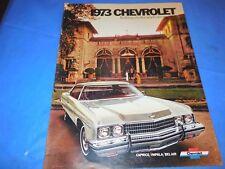 1973 CHEVROLET CAPRICE-IMPALA-BEL AIR ORIGINAL SALES BROCHURE!