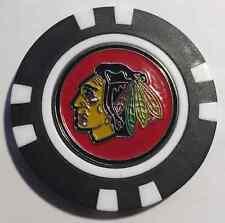 NHL Chicago Blackhawks Magnetic Poker Chip removable Golf Ball Marker