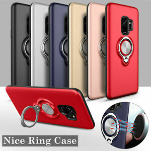 Phone Case for Samsung S10 S10+ S9 S8 Magnetic car mount ring with finger stand