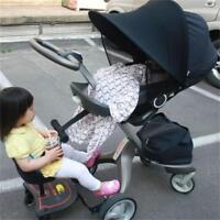 Baby Pram Pushchair Buggy Stroller Umbrella Sunshade Parasol Sun Canopy Black JA