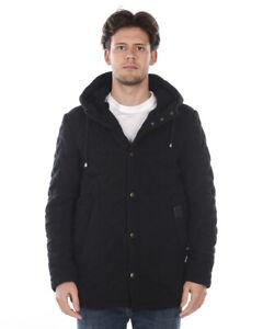 Cappotto Daniele Alessandrini Jacket Coat MADE IN ITALY Uomo Nero X912M5233905 1