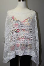 Sol & Mer Women's Off White - S/M-Lace Crochet Scarf Top Cover-up 100% Cotton