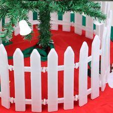 White  Plastic  Xmas Christmas Decoration Tree Festival Fence Party Ornaments
