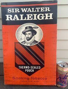 Vtg SIR WALTER RALEIGH Smoking Tobacco STORE DISPLAY BOX 16 X 10 X 4