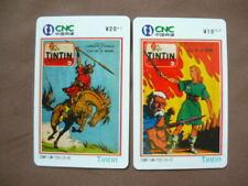 2 Prepaid kaarten MINT Ongebruikt China  -  TINTIN