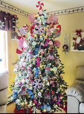 Deluxe 7.5 ft LED Frasier Xmas Tree 3 Option Color Assemble Decorate Petal Click