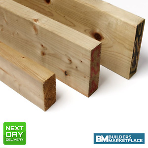 Treated Timber 4x2 Tanalised Pressure Treated Timber C16 C24 47mm x 100mm