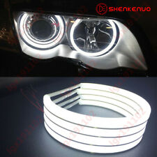 For BMW E36 E38 E39 E46 M3 White Halo Ring Cotton Light SMD LED Angel Eyes 131MM