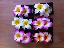 12PCS HAWAII FLOWERS HAIR CLIPS PLUMERIA FOAM Bridal Wedding Party RANDOM PICK!