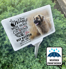 Pet dog grave marker, Memorial garden tree stake and photo plaque, Personalised.