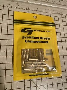 Gold Tip Brass Arrow inserts 100gr 1 Dozen